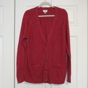 Old Navy Fire Brick Red Cardigan - L